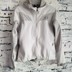 The North Face White and Grey Lightweight Jacket